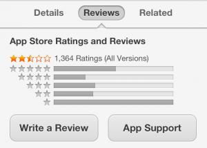 Valoraciones de tu app